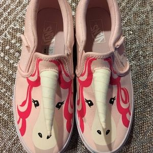 Girls Pink Glittery Unicorn Vans